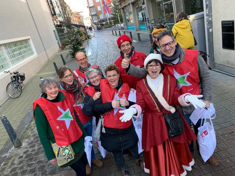 PVDA voert kerstacties in Limburg.