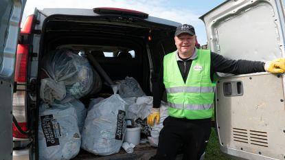 Zwerfvuil opruimen in Tielt-Winge levert volle bestelwagen op na een half uur