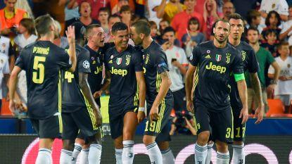 Dubieus rood voor Ronaldo deert Juventus niet, Batshuayi met Valencia maatje te klein - Lukaku niet aan het kanon bij United, dat wel wint