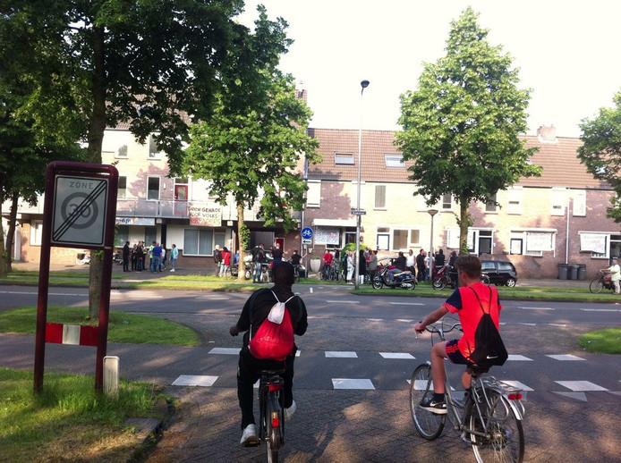 Protest in de Osse Braakstraat.