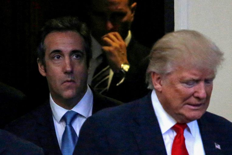 Cohen en Trump in september 2016.  Beeld Reuters