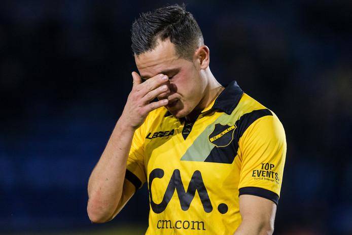 Giovanni Korte na de verloren thuiswedstrijd tegen PEC Zwolle.