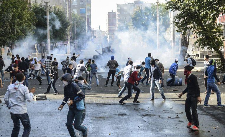 Protesten in Diyarbakir. Beeld afp