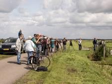 Vogelspotters trekken massaal naar Eemnes voor ralreiger