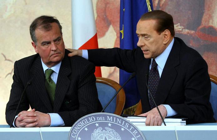 Robrto Calderoli in 2013 met Silvio Berlusconi