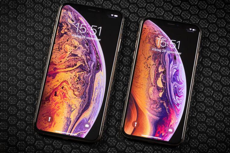 De iPhone XS en XS Max.