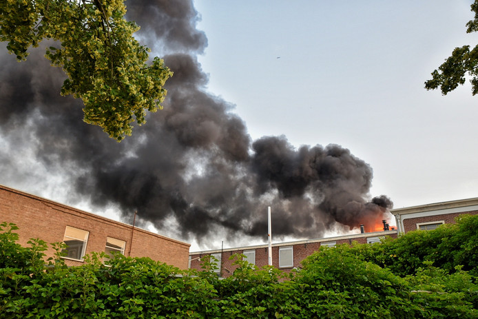 Uitslaande brand in Goirle.