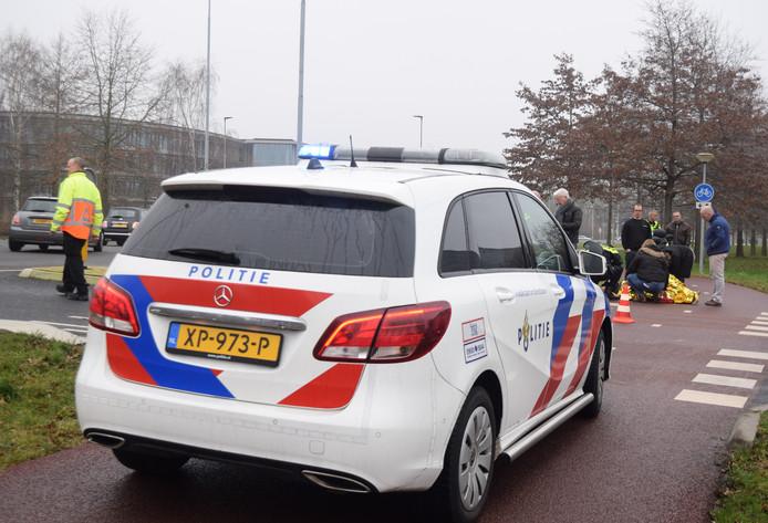 De situatie vlak na de aanrijding in Doetinchem.