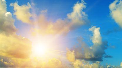 Wolken verdringen geleidelijk de zon