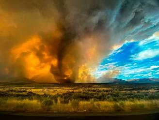 Combinatie van hevige bosbranden en onweer veroorzaakt afschrikwekkende vuurtornado in Californië