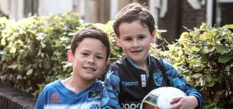Viggo (8) en Tristan (6) tegenover elkaar tijdens gevoelige derby Vitesse - De Graafschap