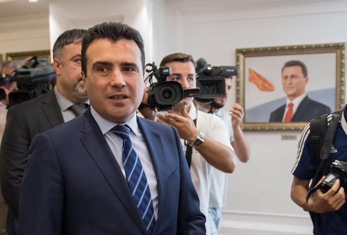 Premier Zoran Zaev op archiefbeeld