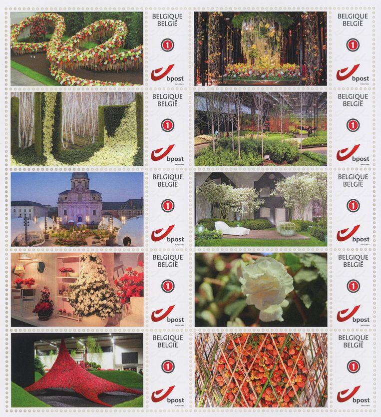 De Floraliën-postzegels