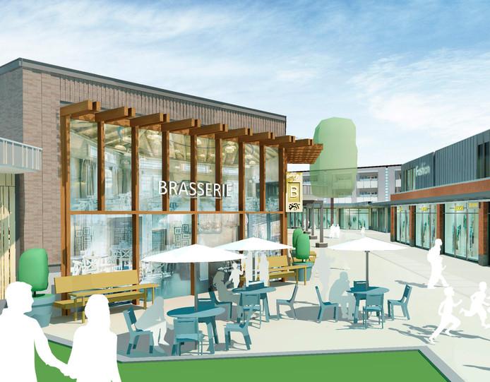 Op het vernieuwde winkelcentrum Colmschate moet onder meer nieuwe daghoreca komen, bijvoorbeeld een brasserie