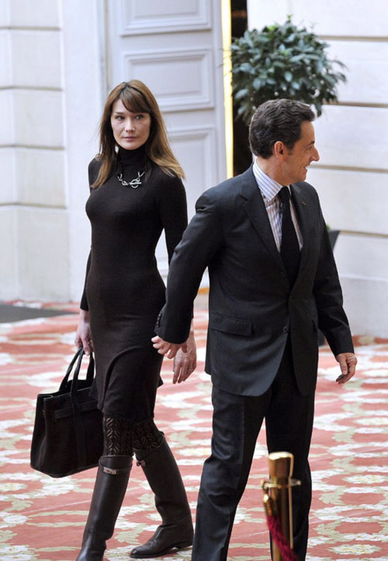 Bruni eiste 125.000 euro en kreeg uiteindelijk 40.000 voor onrechtmatig gebruik van een naaktfoto. Foto EPA Beeld