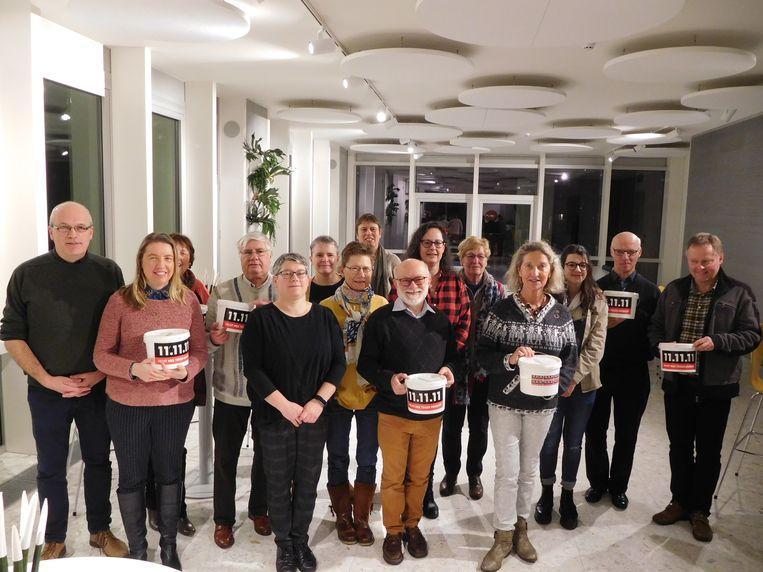 De vrijwilligers van 11.11.11 in Deinze.