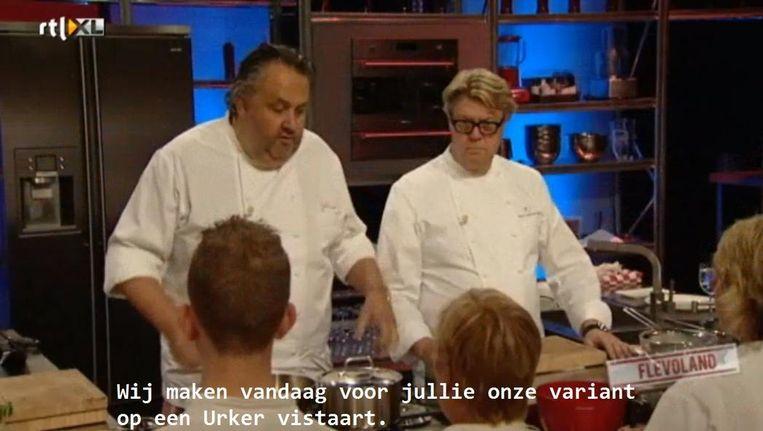 Topchefs Julius Jaspers en Robert Kranenborg gaan de Urker vistaart maken Beeld RTL