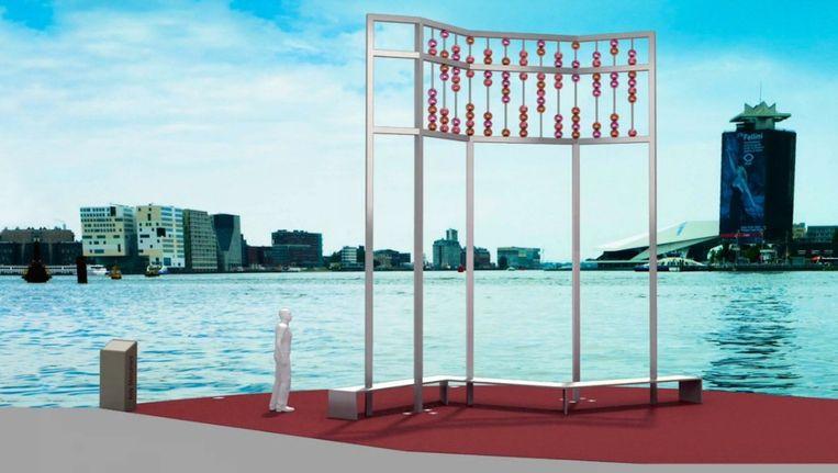Een visualisatie van hoe het monument er uit moet komen te zien Beeld Aids Monument