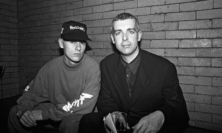 New York, april 1991. Chris Lowe (links) en Neil Tennant. Beeld Getty Images