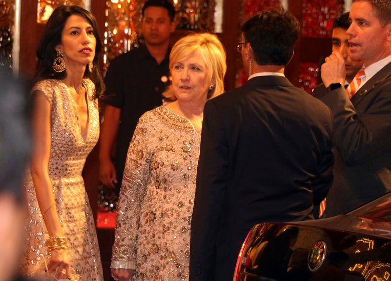 Hillary Clinton op de bruiloft van Isha Ambani en Anand Piramal