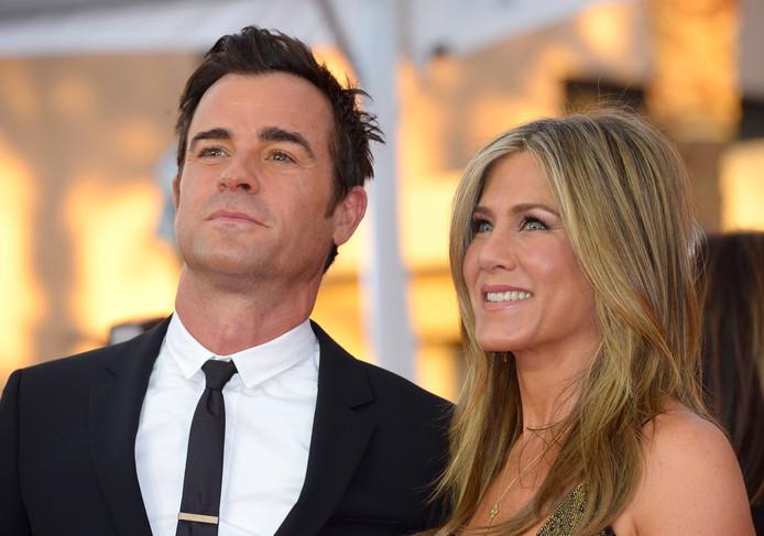Met haar echtgenoot Justin Theroux