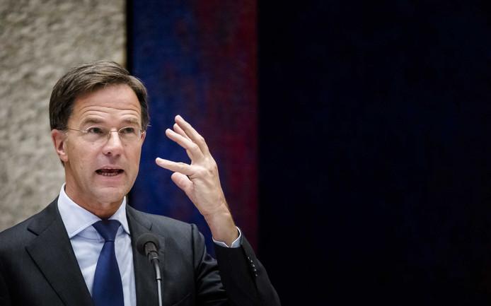 Premier Mark Rutte tijdens de tweede dag van de Algemene Politieke Beschouwingen