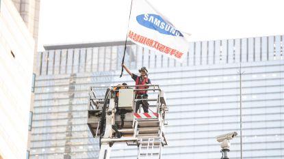 Zuid-Koreaan zit bijna een jaar op 25 meter hoog platform uit protest tegen ontslag door Samsung