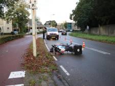 Motoragent komt ten val en raakt gewond in Dieren