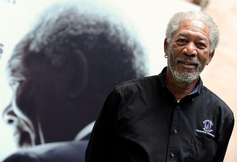 Morgan Freeman bij de première van Invictus. Beeld epa