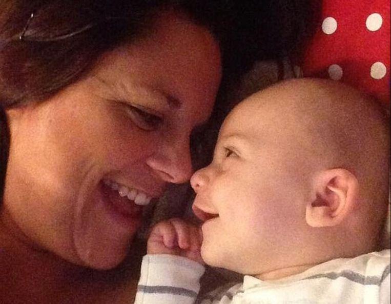 Moeder Gemma met haar zoon Jack.
