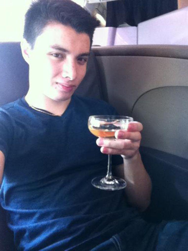 Elliot Rodger op zijn eersteklassevlucht naar Groot-Brittannië