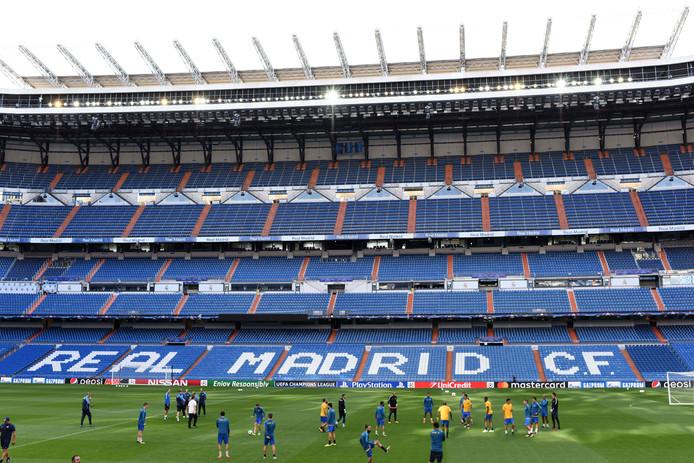 APOEL trainde gisteren in Estadio Santiago Bernabéu.