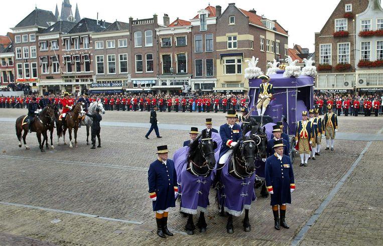 De uitvaartceremonie van prins Claus, 15 oktober 2002. Beeld Foto ANP