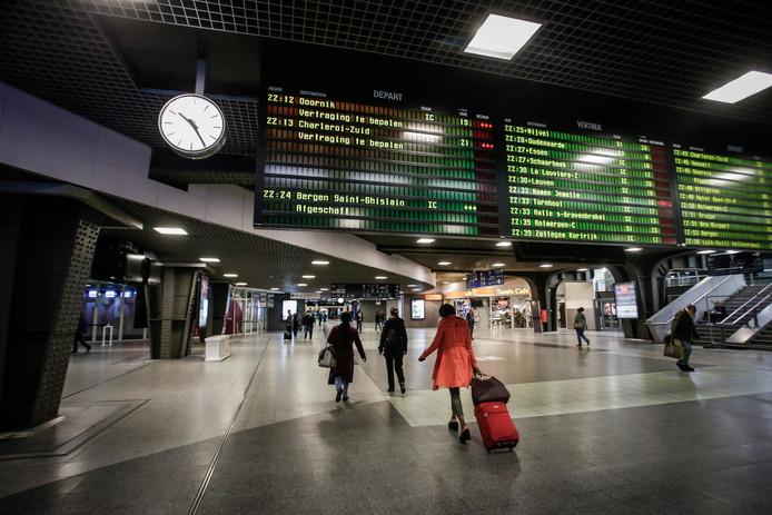 Archiefbeeld station Brussel-Zuid