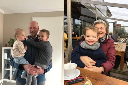 Opa en oma 'Trein' met de kleinkinderen.