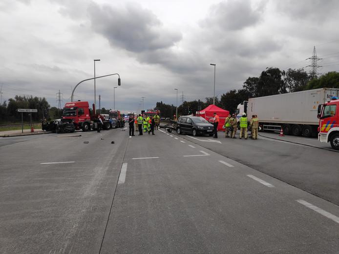 Het kruispunt waar het ongeval gebeurde