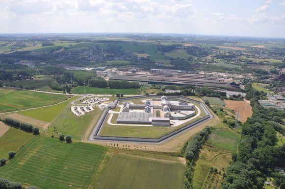 Luchtfoto van de gevangenis van Itter, waar drie jaar geleden een cipiersstaking uitbrak.