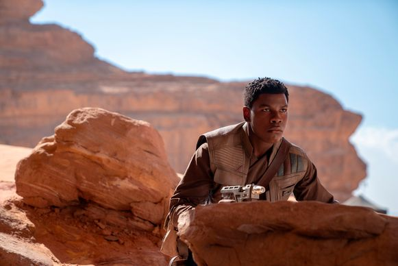 John Boyega in een scene uit 'Star Wars: The Rise of Skywalker'