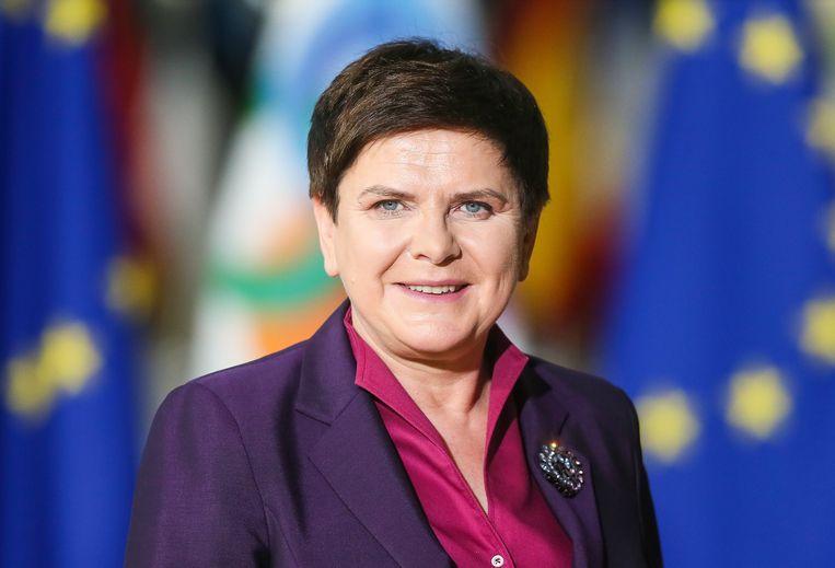 Beata Szydlo stond twee jaar lang aan het roer.