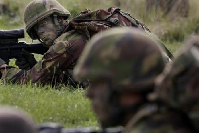 Oefening door militairen. foto ANP