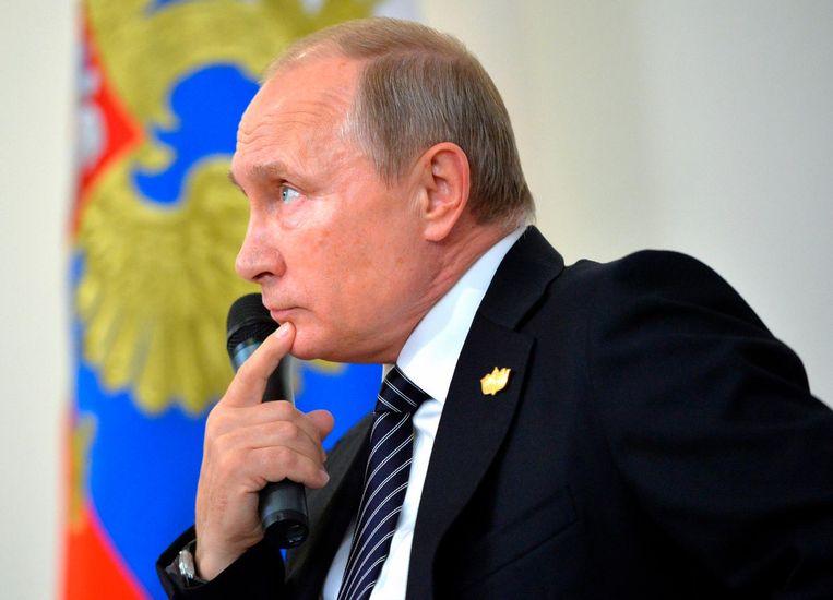 Poetin zegde vorige week een bezoek aan Parijs af. Beeld ap