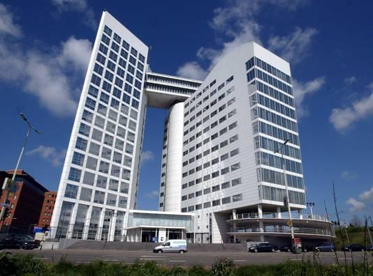 Het Internationaal Strafhof in Den Haag.