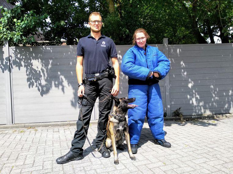 Jasper De Vroede en Jolijn Vanderborght in vol ornaat.