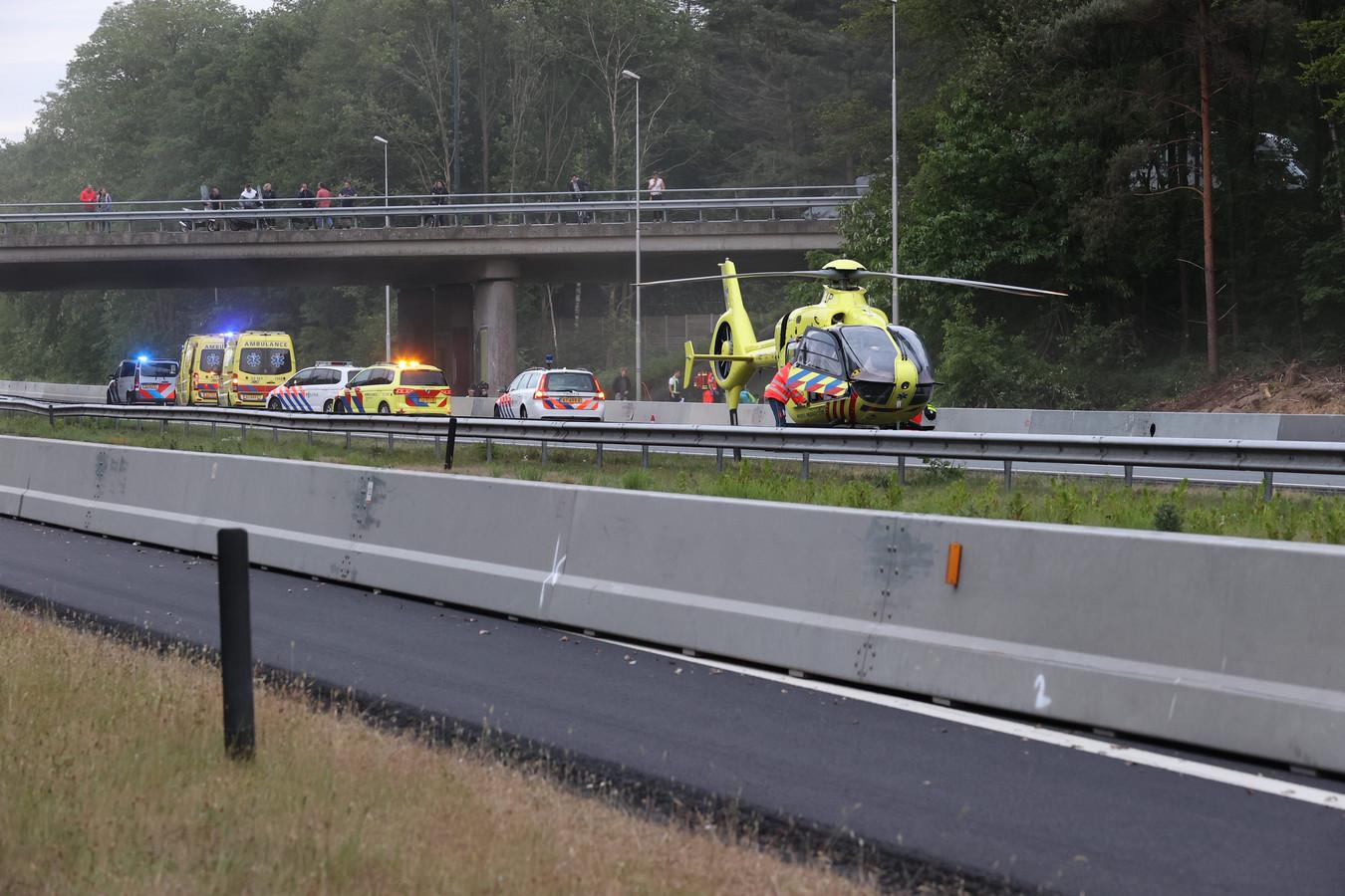Gewonde man op vluchtstrook A67 in Veldhoven