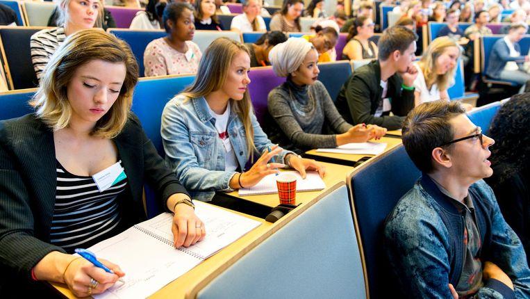 Vorig jaar telde Nuffic nog 112.000 internationale studenten die lessen volgden in ons land. Beeld anp