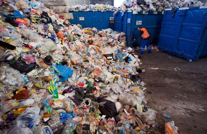 Een enorme berg ingezameld plastic in Amersfoort