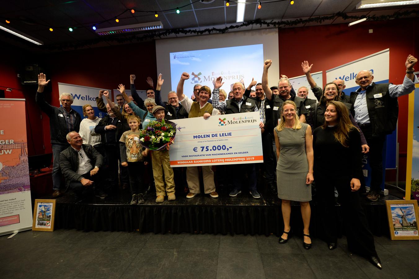 Korenmolen De Lelie is de winnaar van de BankGiro Loterij Molenprijs 2019.