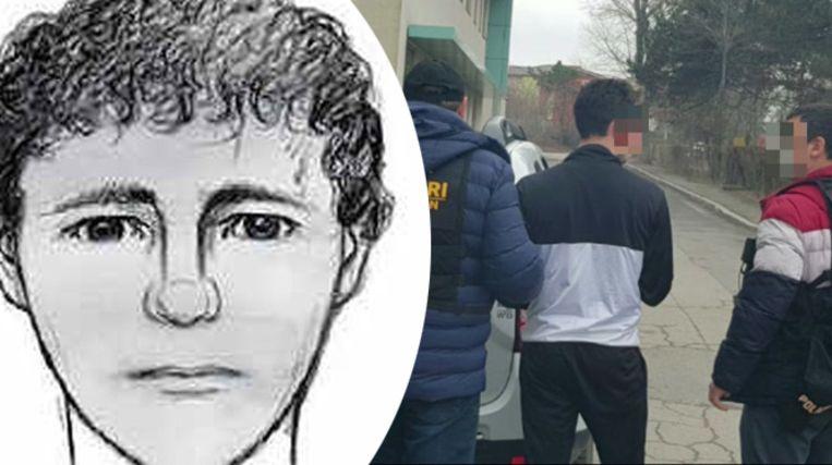 De robotfoto van de serieverkrachter van Wezembeek-Oppem destijds en Jessy Piacentini bij zijn arrestatie in Roemenië.