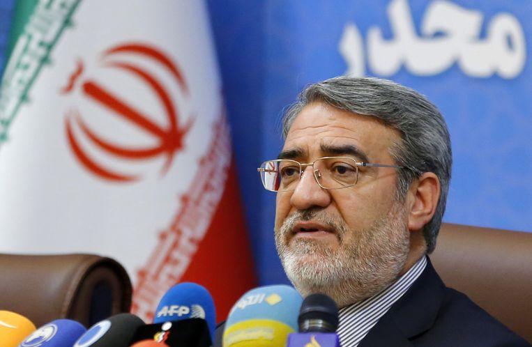 De Iraanse minister van Binnenlandse Zaken Abdolreza Rahmani Fazli.