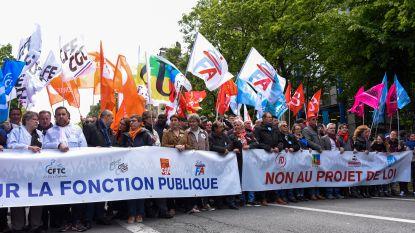 Zeker 100.000 manifestanten op straat in Frankrijk tegen hervormingen
